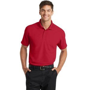 Port Authority K572 Dry Zone Grid Polo - EngineRed